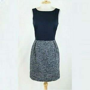 Gap Navy Blue Tweed Sleeveless Dress